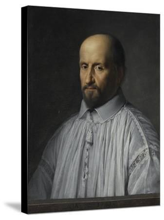 Portrait de Jean Duvergier de Hauranne, abbé de Saint-Cyran-Philippe De Champaigne-Stretched Canvas Print