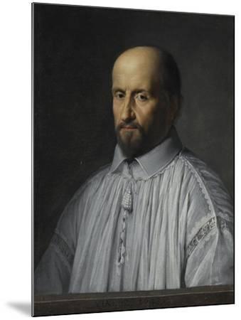 Portrait de Jean Duvergier de Hauranne, abbé de Saint-Cyran-Philippe De Champaigne-Mounted Giclee Print