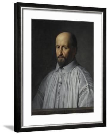 Portrait de Jean Duvergier de Hauranne, abbé de Saint-Cyran-Philippe De Champaigne-Framed Giclee Print