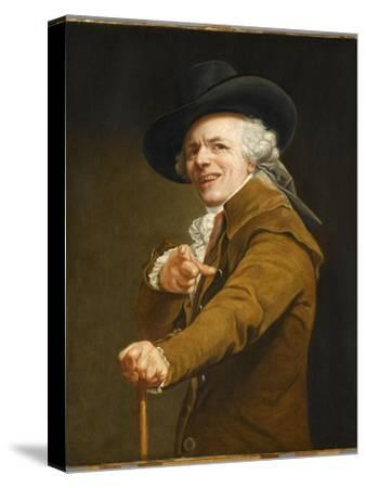 Portrait of the Artist in the Guise of a Mockingbird-Joseph Ducreux-Stretched Canvas Print