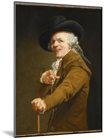 Portrait of the Artist in the Guise of a Mockingbird-Joseph Ducreux-Mounted Giclee Print