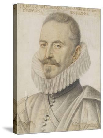 Portrait du marquis de Mirabel-Daniel Dumonstier-Stretched Canvas Print