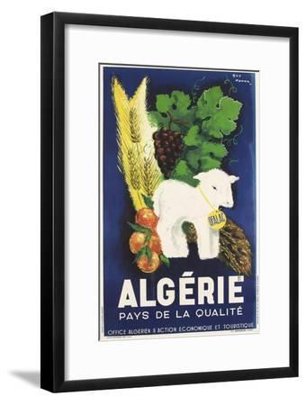 Affiche de Guy Nouen Algérie, pays de la qualité--Framed Giclee Print