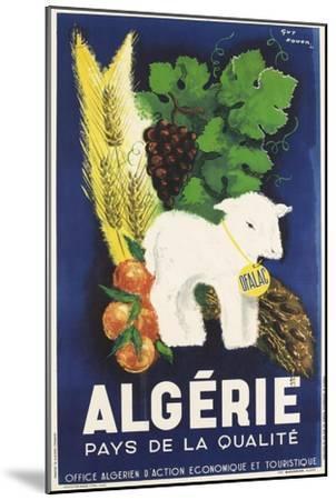 Affiche de Guy Nouen Algérie, pays de la qualité--Mounted Giclee Print