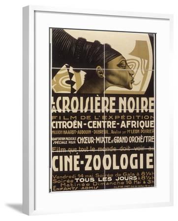 Affiche : La croisière noire, film de l'exposition Citroën-Centre-Afrique--Framed Giclee Print