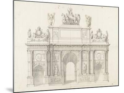 Projet pour l'arc de triomphe de la rue Saint-Antoine à Paris-Charles Le Brun-Mounted Giclee Print