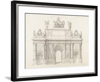 Projet pour l'arc de triomphe de la rue Saint-Antoine à Paris-Charles Le Brun-Framed Giclee Print