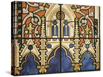 Project for the Windows of the Royal Chapel of Dreux-Eug?ne Viollet-le-Duc-Stretched Canvas Print