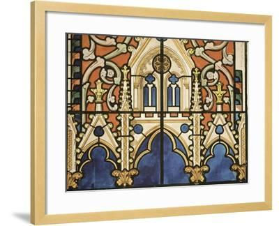 Project for the Windows of the Royal Chapel of Dreux-Eug?ne Viollet-le-Duc-Framed Giclee Print