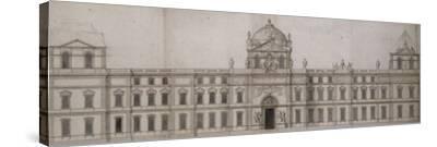 Projet pour la façade orientale du Louvre-Charles Le Brun-Stretched Canvas Print
