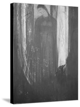 Le corbeau-Odilon Redon-Stretched Canvas Print