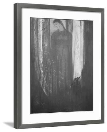 Le corbeau-Odilon Redon-Framed Giclee Print