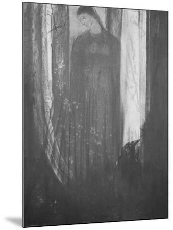 Le corbeau-Odilon Redon-Mounted Giclee Print
