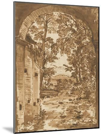 Ruines et paysage vus à travers un arc-Nicolas Poussin-Mounted Giclee Print