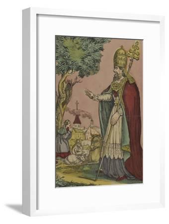 Saint Cornely, protecteur des bestiaux--Framed Giclee Print