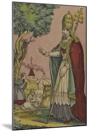 Saint Cornely, protecteur des bestiaux--Mounted Giclee Print