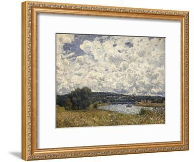 la Seine à Suresnes (Hauts de Seine)-Alfred Sisley-Framed Giclee Print