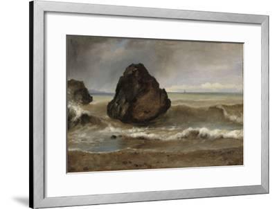 Vue de mer, à Salerne-Achille Etna Michallon-Framed Giclee Print