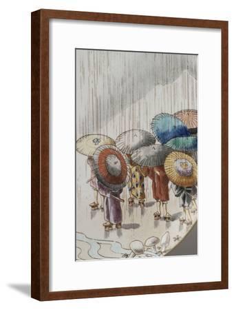 Ensemble de quatre assiettes à décor extrême-oriental--Framed Giclee Print