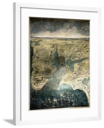 Siège de la Rochelle du 10 août 1627 au 28 octobre 1628-Jacques Callot-Framed Giclee Print