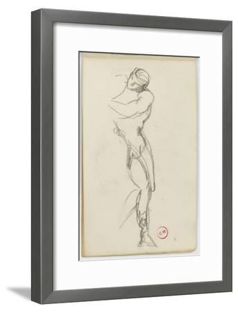 Sketchbook: Study of Man Standing for Darius Fleeing-Gustave Moreau-Framed Giclee Print