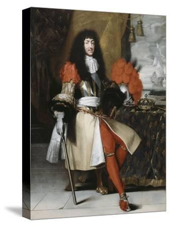 Portrait en pied de Louis XIV (1638-1715), roi de France et de Navarre-Claude Lefebvre-Stretched Canvas Print