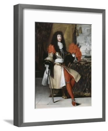 Portrait en pied de Louis XIV (1638-1715), roi de France et de Navarre-Claude Lefebvre-Framed Giclee Print