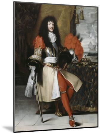 Portrait en pied de Louis XIV (1638-1715), roi de France et de Navarre-Claude Lefebvre-Mounted Giclee Print
