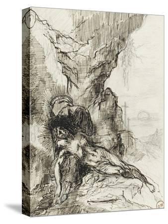 Etude pour une pietà-Gustave Moreau-Stretched Canvas Print