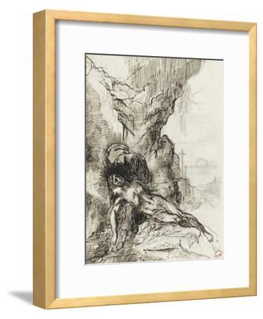 Etude pour une pietà-Gustave Moreau-Framed Giclee Print