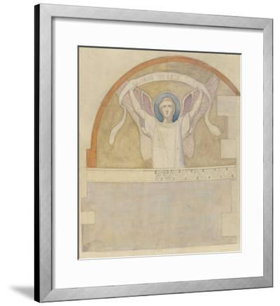 Etude pour un ange portant un phylactère intitulé Gloria in excelsis deo-Charles Lameire-Framed Giclee Print