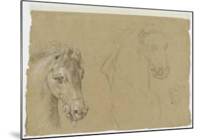 Etudes pour la tête d'un cheval-Pierre Mignard-Mounted Giclee Print