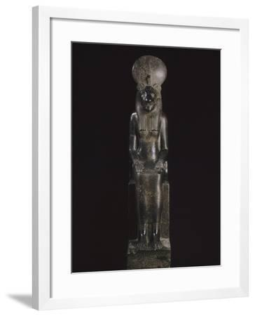 Statue de Sekhmet, déesse à tête de lionne--Framed Giclee Print