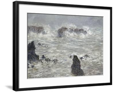Tempête, côtes de Belle-île-Claude Monet-Framed Giclee Print