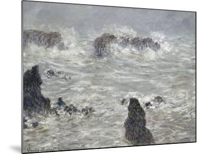 Tempête, côtes de Belle-île-Claude Monet-Mounted Giclee Print