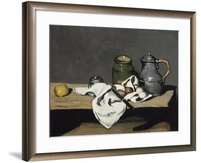 Nature morte à la bouilloire-Paul C?zanne-Framed Giclee Print