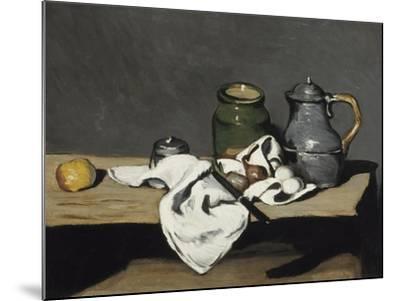 Nature morte à la bouilloire-Paul C?zanne-Mounted Giclee Print
