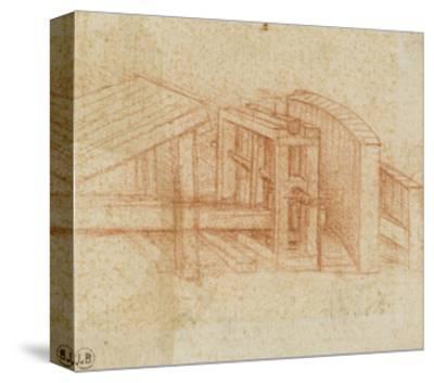 Etude de machine-Leonardo da Vinci-Stretched Canvas Print