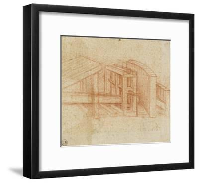 Etude de machine-Leonardo da Vinci-Framed Giclee Print