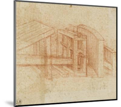 Etude de machine-Leonardo da Vinci-Mounted Giclee Print