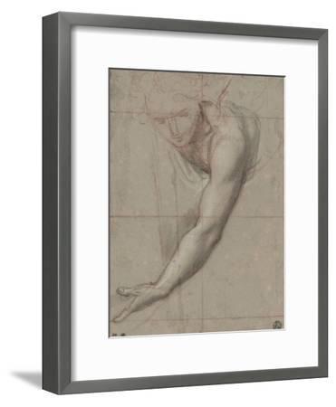Etude d'un buste de jeune femme drapée penchée en avant-Antoine Coypel-Framed Giclee Print
