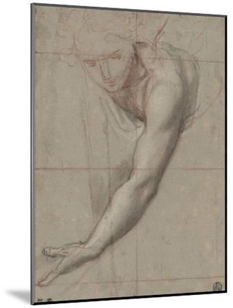 Etude d'un buste de jeune femme drapée penchée en avant-Antoine Coypel-Mounted Giclee Print