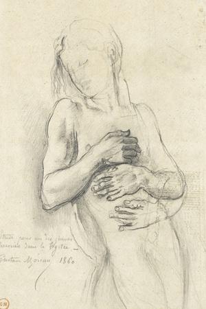 Etude de personnage pour Tyrtée-Gustave Moreau-Stretched Canvas Print