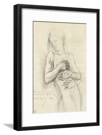 Etude de personnage pour Tyrtée-Gustave Moreau-Framed Giclee Print