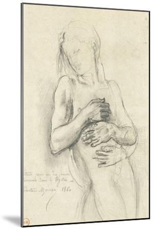 Etude de personnage pour Tyrtée-Gustave Moreau-Mounted Giclee Print