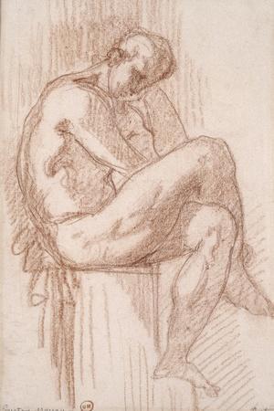 Etude pour les filles de Thespius (Hercule)-Gustave Moreau-Stretched Canvas Print