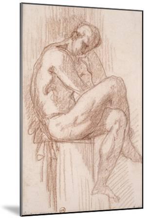 Etude pour les filles de Thespius (Hercule)-Gustave Moreau-Mounted Giclee Print