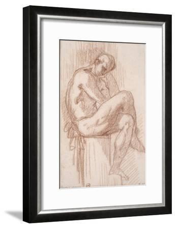 Etude pour les filles de Thespius (Hercule)-Gustave Moreau-Framed Giclee Print