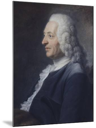 Portrait présumé du Président Herraut-Maurice Quentin de La Tour-Mounted Giclee Print