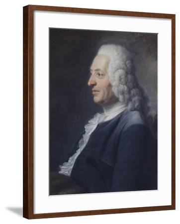 Portrait présumé du Président Herraut-Maurice Quentin de La Tour-Framed Giclee Print
